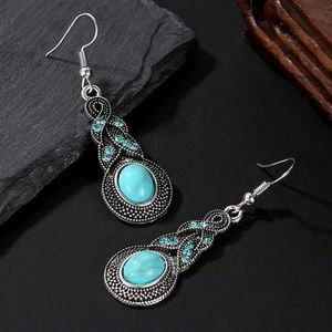 Luxury Boho Turquoise Drop Earrings